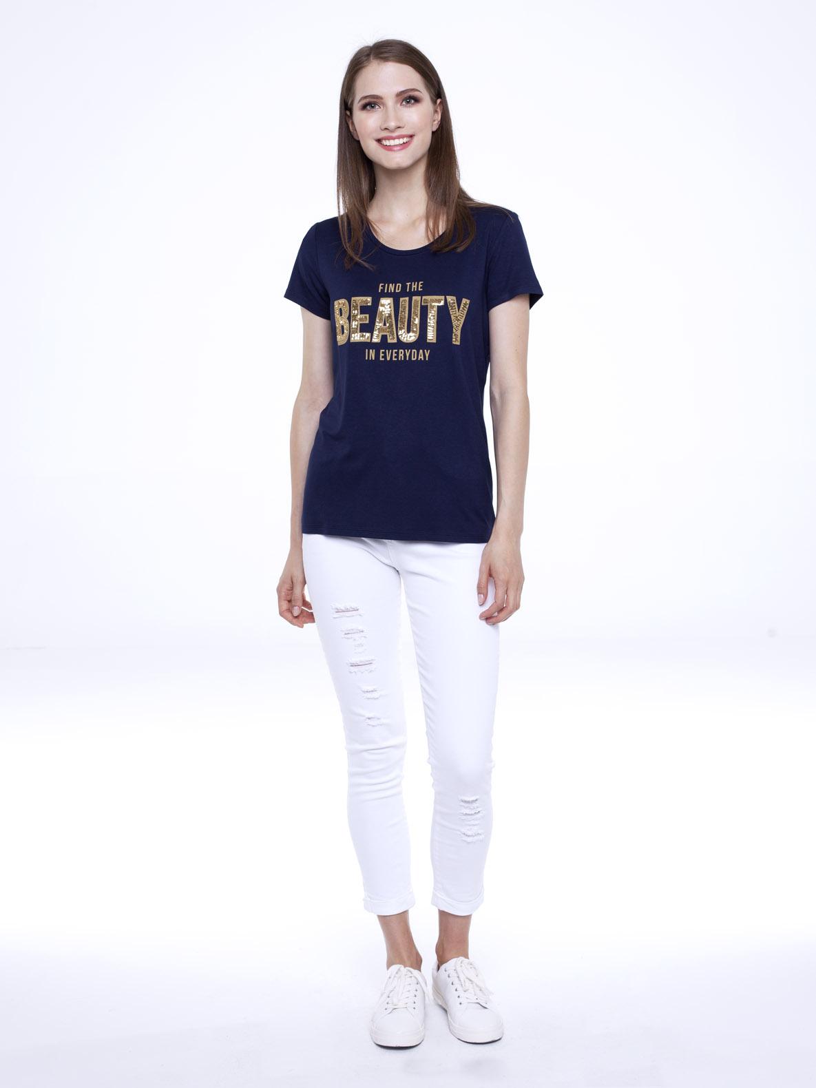T-shirt She navy blue