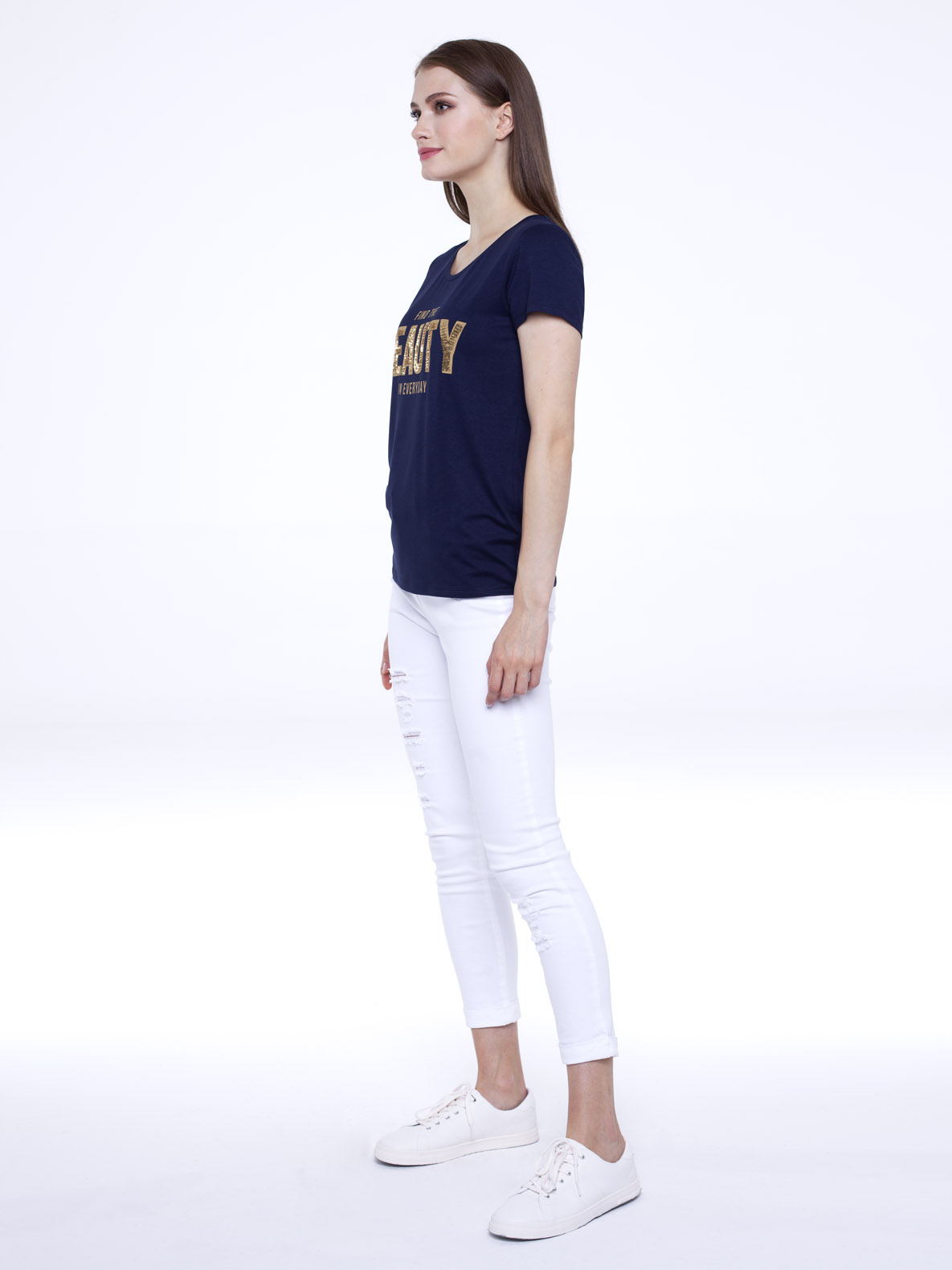 T-shirt She navy blue