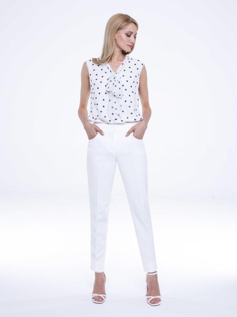 Trousers Peony white