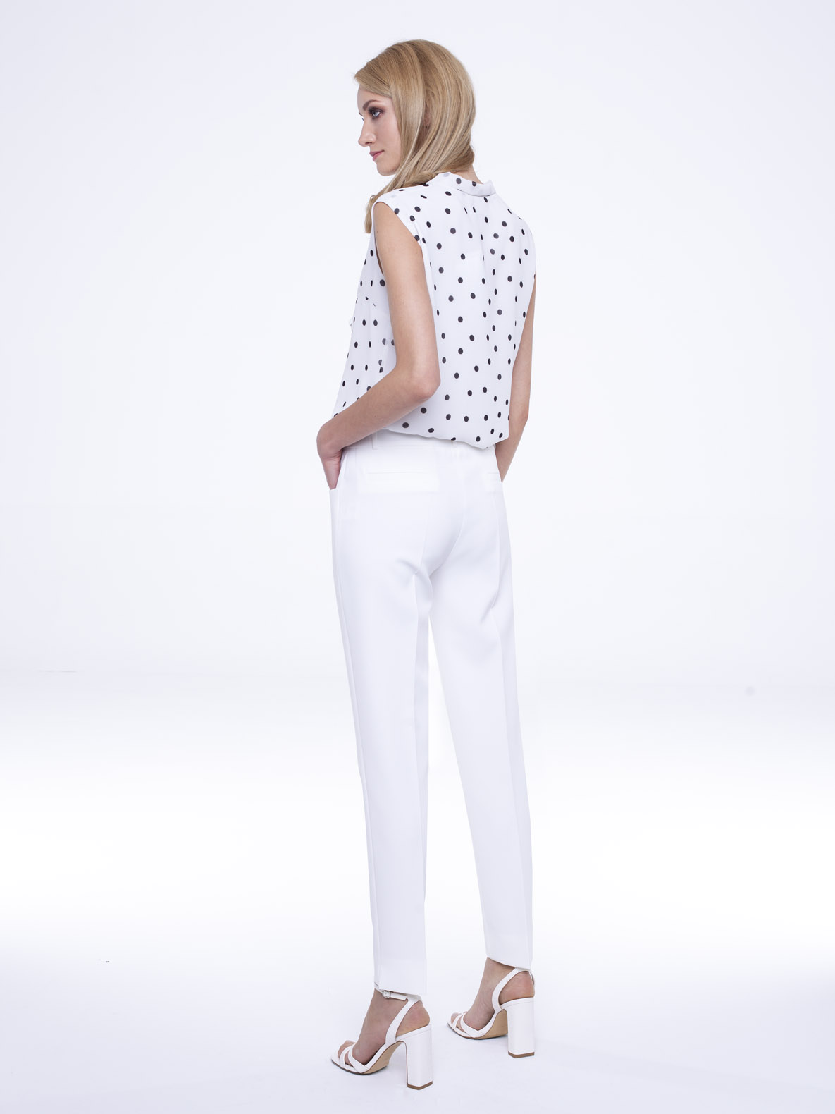 Trousers Peony white